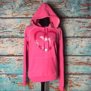 Pink Victoria's Secret Pink Recycling Pull Over